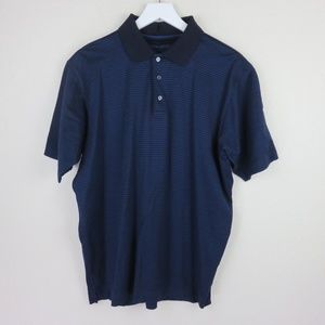 Ermenegildo Zegna Blue/Black Striped Polo Shirt